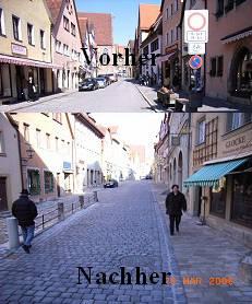 Altstadt Rothenburg vorher-nachher